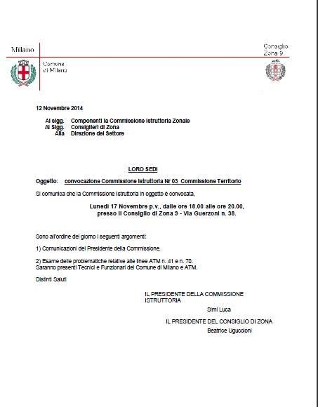 17-11-2014 – Consiglio di Zona per discutere delle linee 70 41 (ATM)