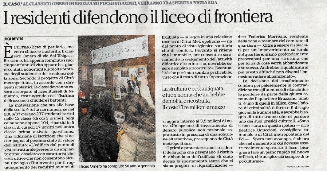 articolo_giornale_chiusura_omero